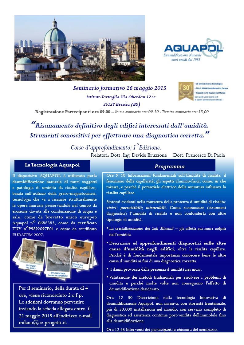 Umidità di risalita Brescia 26 maggio 2015