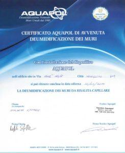 certificato - umidità di risalita