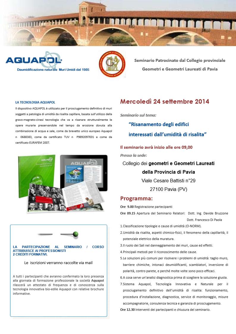 Pavia seminario umidità di risalita