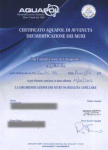 umidità di risalita certificato