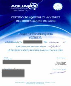 certificato umidità di risalita brozolo