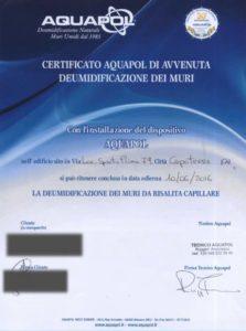 certificato umidità di risalita capoterra