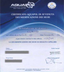 certificato assenza umidità di risalita