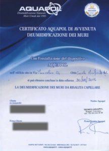 certificato umidità di risalita casale monferrato