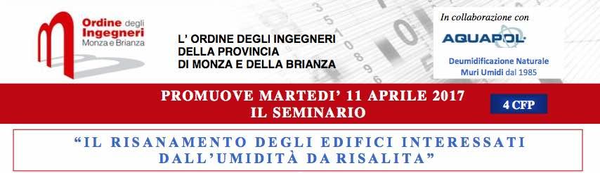 seminario monza umidità di risalita 11 aprile 2017