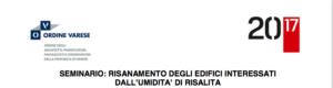 seminario umidità di risalita a Varese