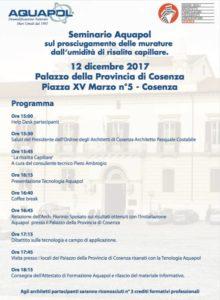 umidità di risalita - seminario a Cosenza