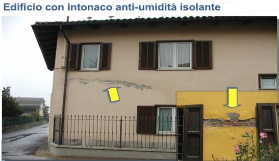edifico con intonaco anti umidità