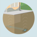 umidità da disturbi geologici